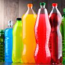 Bottles of sugary drinks